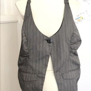 90's Spacegirl Gray Vest one Button